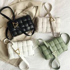 Women Padded Weave Cassette Crossbody Flap Puffy Bag - Various Colours