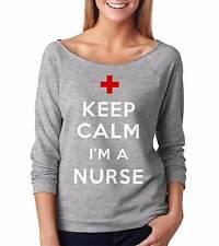 Nurse Raglan French terry 3/4 Sleeve Top Medical Student Graduation Womens Top