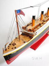"XL RMS Titanic Ocean Liner Wooden Model 56"" White Star Cruise Ship Line Boat New"