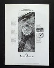 F134 - Advertising Pubblicità - 1992 - JAEGER LE COULTRE , GEOGRAPHIQUE
