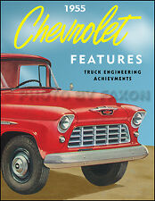1955 Chevy Truck Engineering Features Manual Pickup Cameo Suburban Panel Chevy
