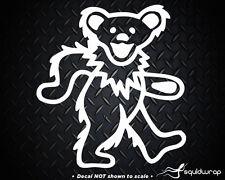 "Grateful Dead Bear Car Decal / Laptop Sticker - White 5"""