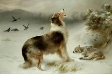 Found or Shepherd's Call Dog Art Print by Walter Hunt or Albrecht Schenck