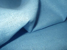 Baby Blue Burlap Pure 100% Linen flax Dense FABRIC Decorator Color - By the Yard