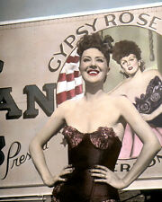 "GYPSY ROSE LEE 1954 BURLESQUE HOLLYWOOD ACTRESS 8x10"" HAND COLOR TINTED PHOTO"