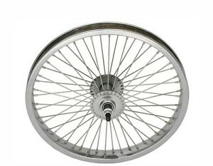 """Bicycle 16"""" Steel Front Wheel W/ 68 Spokes for 16"""" Cruiser Lowrider Bikes"""
