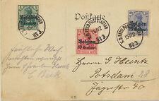 DT.REICH 1914 5 - 25 Centimes a. Germania Dreifarbenfrankatur Bedarfsfeldpost