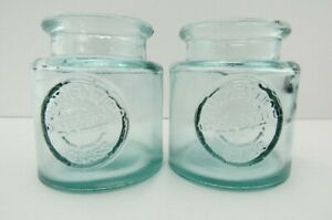 100% Recycled Glass, Two San Miguel Glass Jars