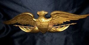 Vintage1966 Signed Sexton Large American Eagle Wall Plaque