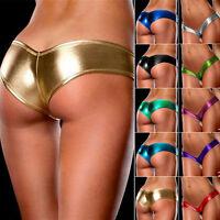 Women Wet Look Sexy Thongs G-string V-string Panties Knickers Lingerie Underwear