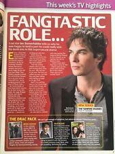UK Total TV Guide Magazine 30 January 2010 Ian Somerhalder Vampires Diaries