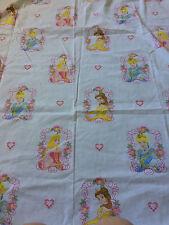 Disney Princess Belle Aurora Cinderella Youth Size Flat Bed Sheet Curtain Fabric