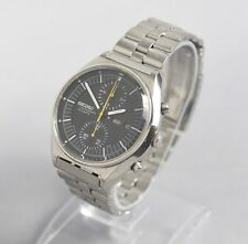 Seiko 6138-3009 Vintage Stainless Steel Jumbo Chronograph Watch w/ Original Band