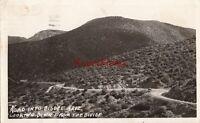 Postcard RPPC Road Into Bisbee Arizona AZ Looking Down the Divide