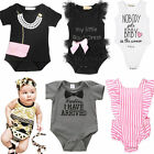 Toddler Infant Kids Baby Boy Girl Cotton Romper Jumpsuit Bodysuit Clothes Outfit