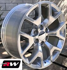 "20"" inch 20 x9"" Wheels for Chevy Avalanche Polished GMC Sierra 2014 2015 Rims"