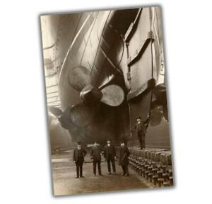 """War Photos as Propellers 1911 Construction RMS WW2 Glossy Size """"4 x 6"""" inch W"""
