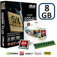 AMD A4 4000 CPU 8GB DDR3 ASUS A68HM PLUS MOTHERBOARD HDMI GAMING UPGRADE BUNDLE