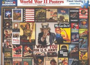 Mark Karvon White Mountain Jigsaw Puzzle WWII Poster Collage NIB