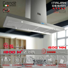 Island 1500mm X 600mm Model Commercial Rangehood Alfresco Range Hood Canopy Bbq