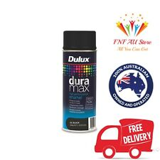 Dulux Duramax 340g Gloss Spray Paint - Black Dries 10X Faster Than Normal Spray