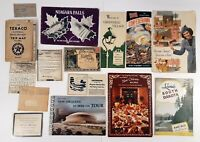 Ephemera Lot of 15 Pieces Niagara Falls New Orleans WWII Mail Texaco Map More