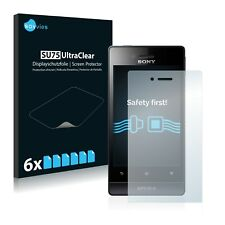 6x Film Protection écran pour Sony Xperia Miro ST23a ST23i Protecteur