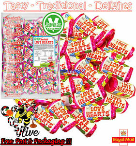 1 - 1000 Swizzels Mini LOVE HEARTS Sweets Wedding Favours Retro Party Valentines