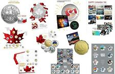 2017 CANADA 150 RCM SILVER COINS & COIN SETS plus CANADA 150 STAMP SETS