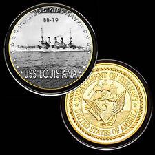 USS Louisiana (BB-19) GP Challenge pinted Coin