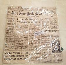 Kate Spade New York Canvas Shopper Bag Tote Newspaper Wanderlust- NEW in Shrink!