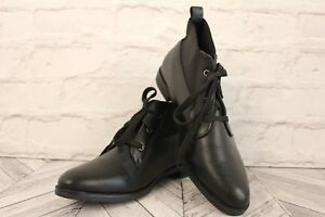 TRUFFLE Ankle Boots Shoes COLLECTION Fashion Black Faux Leather RRP £69 EU 41