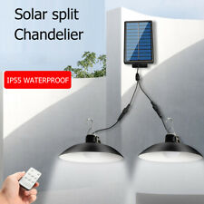 LED Solar Lamp Remote Control Ceiling Light Outdoor Garden Hanging Decor