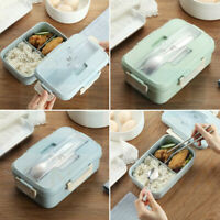 3 Compartments Lunch Box Food Container Set Bento Storage Boxes with Handle