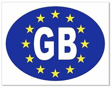 GB Euro Car Number Plate Vinyl Sticker Decal Badge