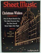 Christmas Wishes Sheet Music Magazine Xmas Songs November/December 1992 RARE!!