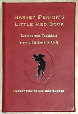 HARVEY PENICK'S LITTLE RED BOOK ~ LEATHER BOUND PERSONALIZED AS YOU WISH ~ BOXED