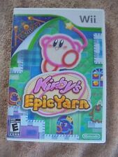 Kirby's Epic Yarn Video Game E 2010 Nice Nintendo Wii Complete Everyone