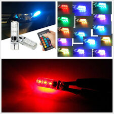2 Sets 12V T10 5050 RGB LED Car SUV Side Marker Lights Reading Lamp + Remote Kit