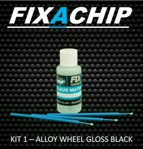 GLOSS BLACK ALLOY WHEEL TOUCH UP PAINT  (KIT 1)