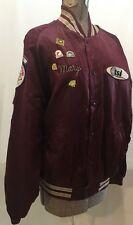 Softball Dugout Jacket Maroon Mary Patches Pins Thermal Services Thunderbirds L