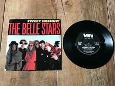 "THE BELLE STARS - SWEET MEMORY : NM UK 7"" VINYL SINGLE BUY 174 - PLAYS GREAT!!"