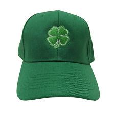 a88be384f1e Irish St. Patricks Day 4 Leaf Clover Shamrock Green Baseball Cap Hat