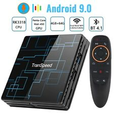 Transpeed Android 9.0 Smart TV BOX 4G 64G Google Voice Assistant RK3318 4K 3D Ul