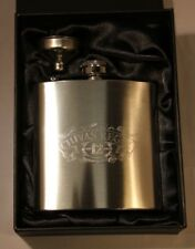 Chivas Regal Whiskey 6oz Stainless Steel Hip Flask, FREE ENGRAVING, Theme Gift