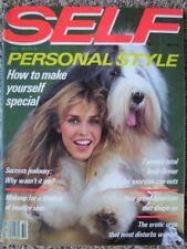 10/1981 vintage SELF Annette Stai by Steven Meisel Maidenform Dayle Haddon Eva V
