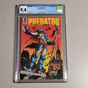Predator #1 1st Print CGC 9.4 Dark Horse First Appearance in Comics 1989 🔥