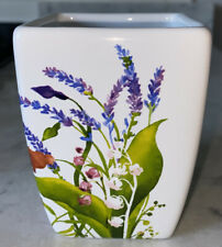 New Crabtree And Evelyn Flowered Porcelain Organizer