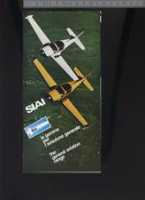 (192) Brochure aviation Aircraft SIAI MARCHETTI general range