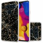 For LG V40 ThinQ Marble Glitter Cover Case